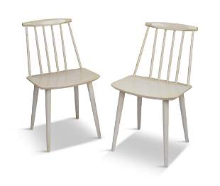 Pair of Folke Palsson Model J77 Dining Chairs.