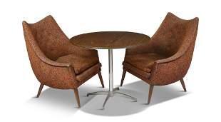 Mid Century Modern Cafe Table and Chairs.