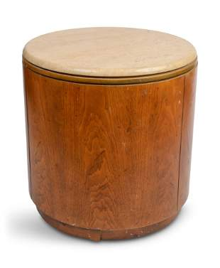 MCM Marble Topped End Table.