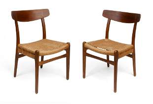 Pair of Hans Wegner CH23 Side Chairs.