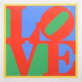 Robert Indiana (1928 - 2018). Heliotherapy Love.