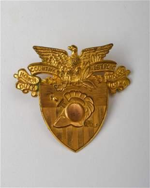 Vintage USMC West Point Hat Badge.