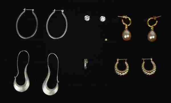 Group of Costume Jewelry Earrings.