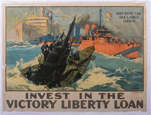 Invest in the Victory Liberty Loan Poster.
