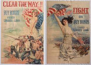Two WWI War Bond Posters.