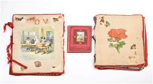 Two Late Victorian Cloth Scrapbooks.