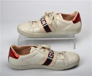 Pair of Leather Gucci Sneakers.