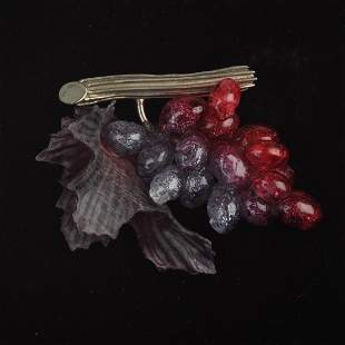French Grape Cluster Brooch.