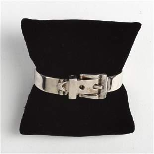 Italian Sterling Belt Buckle Bracelet.