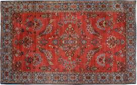 Indo-Sarouk Carpet, North India, circa 1930.