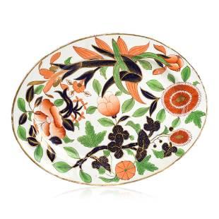 English Ironstone Imari Pattern Oval Platter.