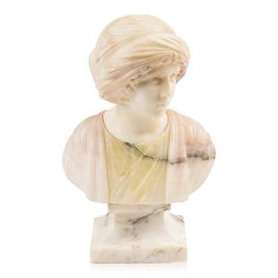 Italian Marble and Alabaster Bust