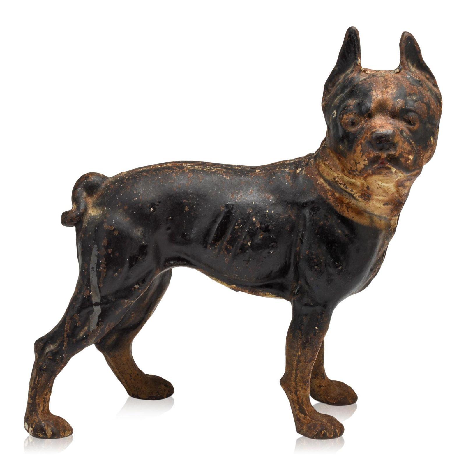 Cast Iron Boston Terrier Dog Doorstop