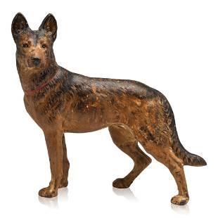 Cast Iron German Shepard Dog Doorstop