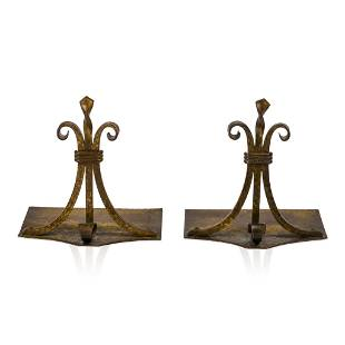 Pair of Roycroft Hammered Copper Bookends