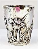 ANTIQUE CHINESE EXPORT SOLID STERLING SILVER CUP c1920