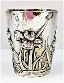 ANTIQUE CHINESE EXPORT SOLID STERLING SILVER CUP