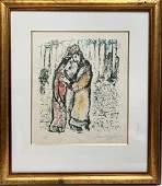 """Mac Chagall LITHOGRAPHS """" David and Bathsheba"""""""