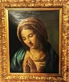 Antique Religious Oil Painting , 18th / 19th century