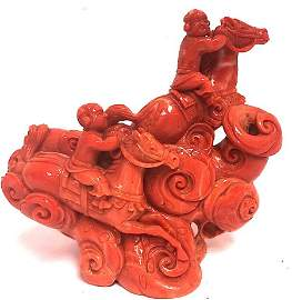 Figure of the Chinese group of red coral representing