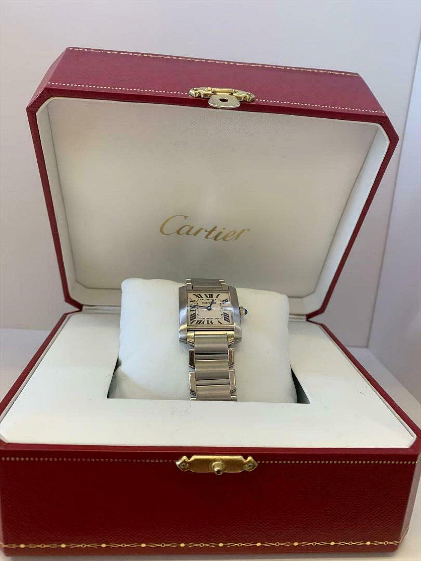 Cartier Tank Francaise Midsize Silver Dial Ladies Watch