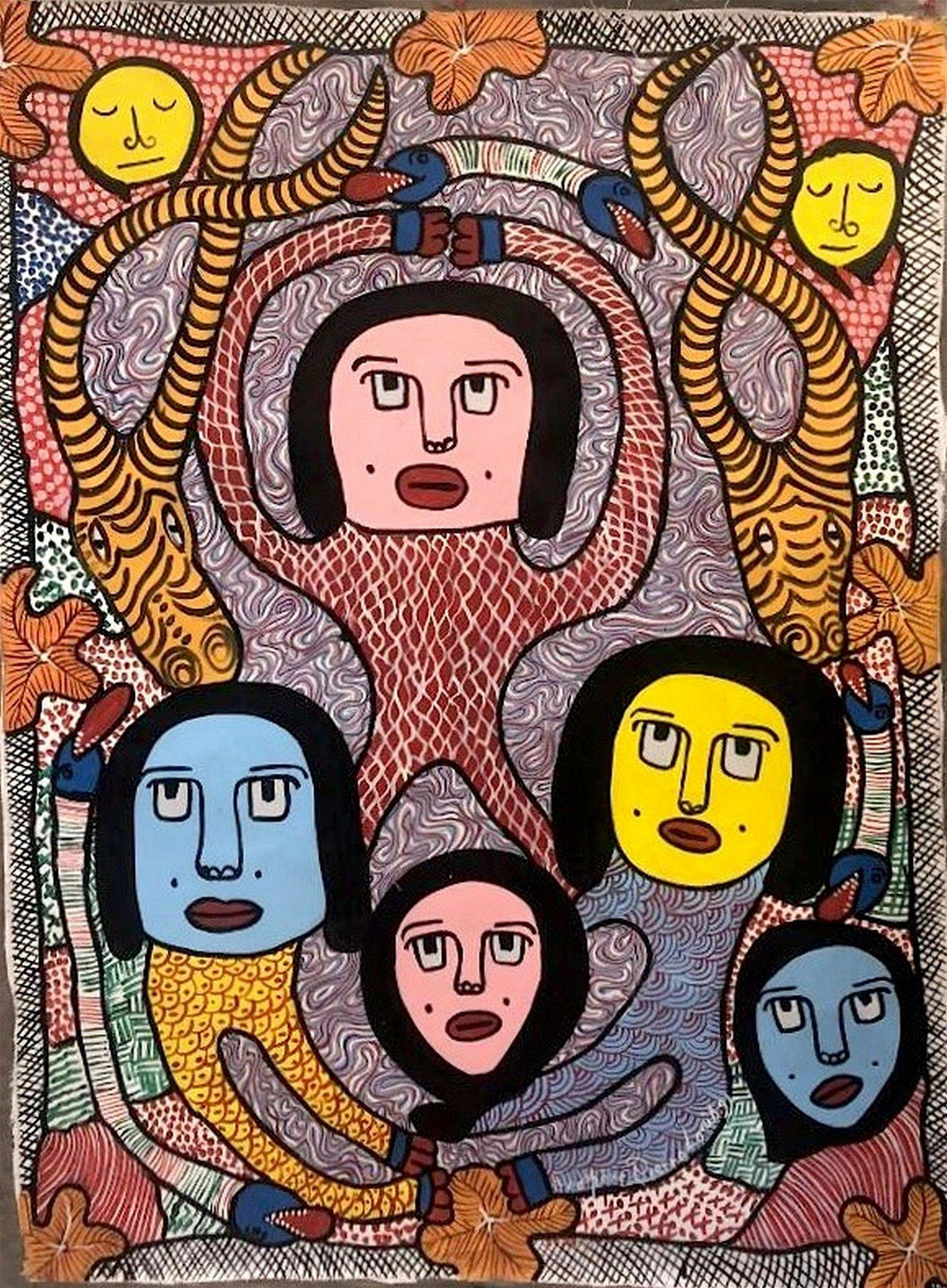 Prospere Pierre Louis(1947 - 1996) Haitian Art