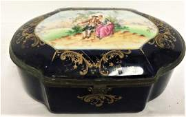 LATE 19TH CENTURY FRENCH SEVRES-STYLE PORCELAIN TRINKET