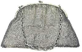 Antique FRENCH Sterling Silver Mesh Purse