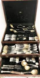 ANTIQUE Reed & Barton Sterling Silver Flatware Set 12