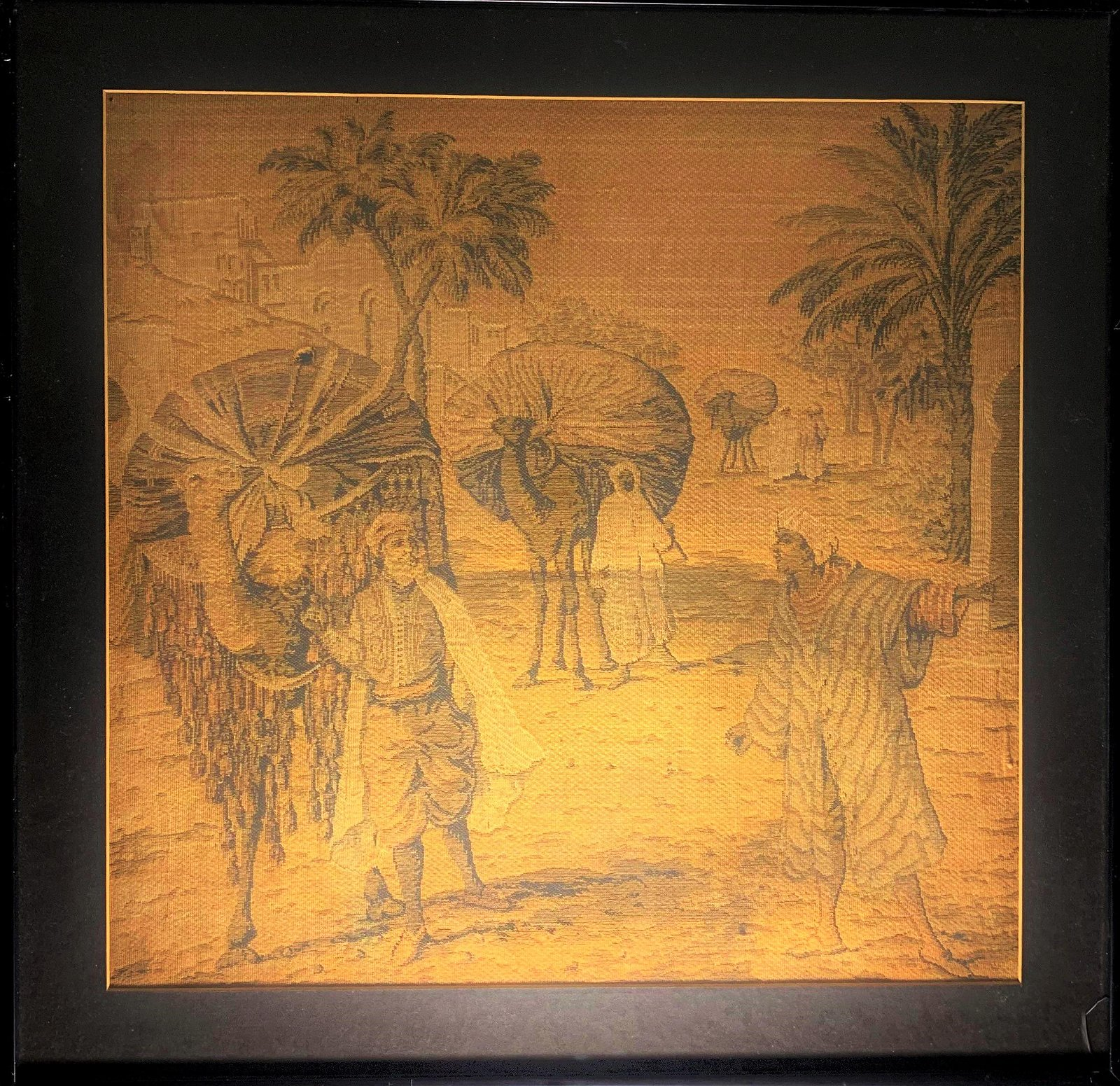 antique Aubusson style Tapestry with an orientalist