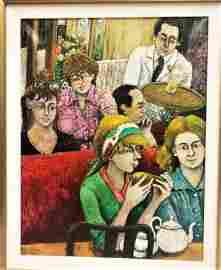 David Azuz  (Born 1942) Oil on canvas