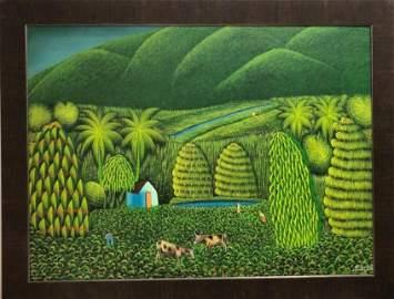 Henri Robert Bresil (1952 - 1999) Haitian Art