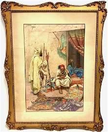 "Giulio Rosati (Italian, 1858-1917) ""Arms seller"""