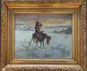 "Frank Paul Sauerwein (1871 - 1910 )""Winter Colorado"""