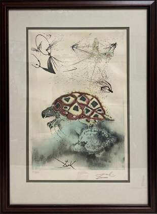 """""""The Mock Turtle's Story"""" by Salvador Dali Signed"""