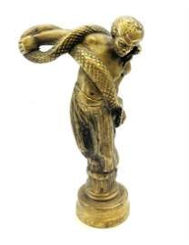 antique 19th century French bronze figural wax seal,