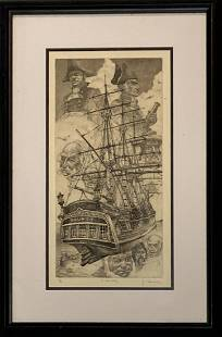 James A. Skvarch (American 20th C.) Etching