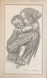 "Käthe Kollwitz (1867-1945) ""Boy with Arms"""