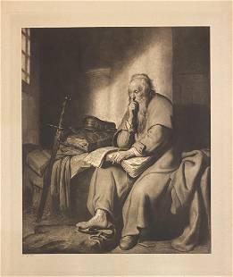 """Rembrandt Harmensz van Rijn """"Paulus in de Gevangenis"""""""