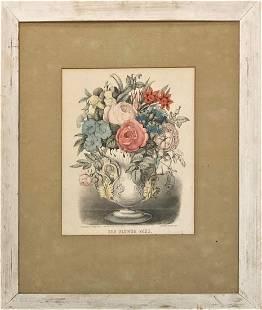 "Currier & Ives (American, 1834-1907) ""The Flower Vase"""