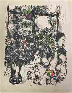 """Marc Chagall (1887-1985) """"Nature morte au bouquet"""""""