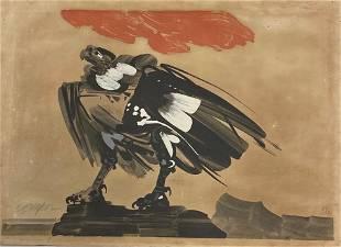 """Alejandro Obregón (1920-1992) Colombian """"Condor"""""""