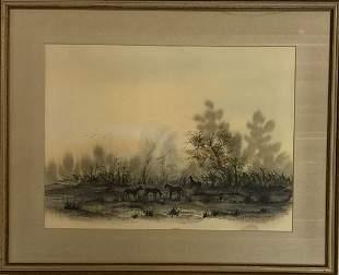 Adolf Arthur Dehn (1895 -1968) American Landscape