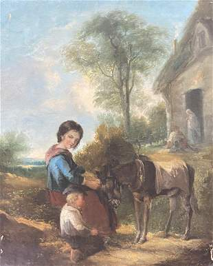 19th Century (English Academic) Oil on Canvas