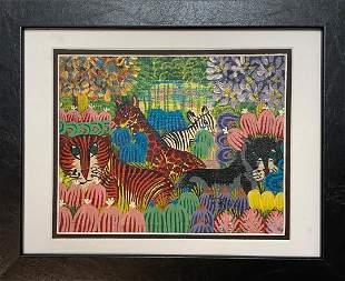 Haitian Painting Signed Frantz