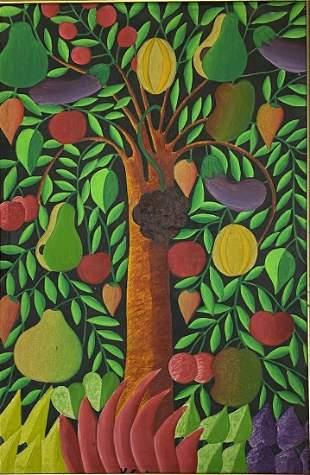 Haitian Folk Art Signed K. Cario