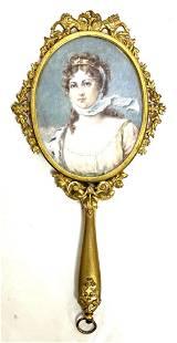 Gilded French Portrait Mirror (Antique 19th Century)