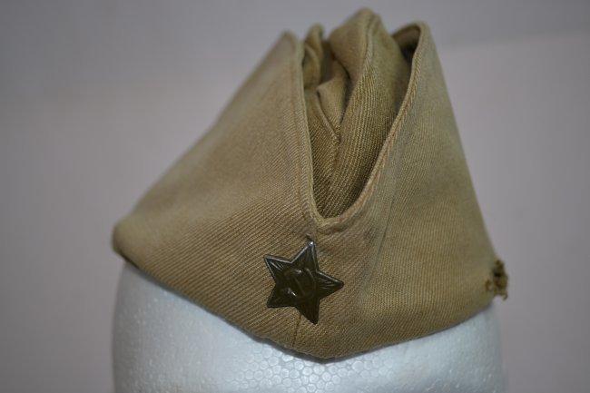 WWII SOVIET RUSSIAN SOLDIER'S PILOTKA HAT CAP