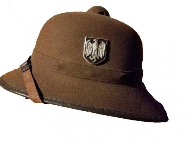 WWII NAZI GERMAN ARMY TROPICAL PITH HELMET