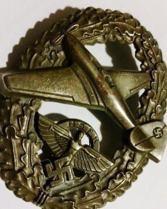 WWII NAZI GERMAN NSFK AVIATOR BADGE